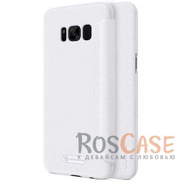 Кожаный чехол (книжка) Nillkin Sparkle Series для Samsung G955 Galaxy S8 Plus (Белый)Описание:бренд&amp;nbsp;Nillkin;спроектирован для Samsung G955 Galaxy S8 Plus;материалы: поликарбонат, искусственная кожа;блестящая поверхность;не скользит в руках;предусмотрены все необходимые вырезы;защита со всех сторон;тип: чехол-книжка.<br><br>Тип: Чехол<br>Бренд: Nillkin<br>Материал: Искусственная кожа