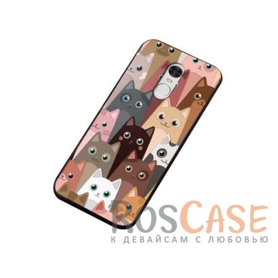 TPU чехол Sweet Art Cats для Xiaomi Redmi Note 4 (Коты)<br><br>Тип: Чехол<br>Бренд: Epik<br>Материал: TPU