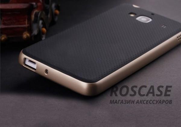 Двухкомпонентный чехол iPaky (original) Hybrid со вставкой цвета металлик для Xiaomi Redmi 2 (Черный / Золотой)Описание:компания- разработчик: iPaky;совместимость с устройством модели: Xiaomi Redmi 2;материал изделия: термопластический полиуретан, поликарбонат;конфигурация: накладка-бампер.Особенности:элегантный дизайн;высокий класс прочности и износоустойчивости;легко и надежно фиксируется на смартфоне;имеет все необходимые функциональные вырезы.<br><br>Тип: Чехол<br>Бренд: iPaky<br>Материал: TPU