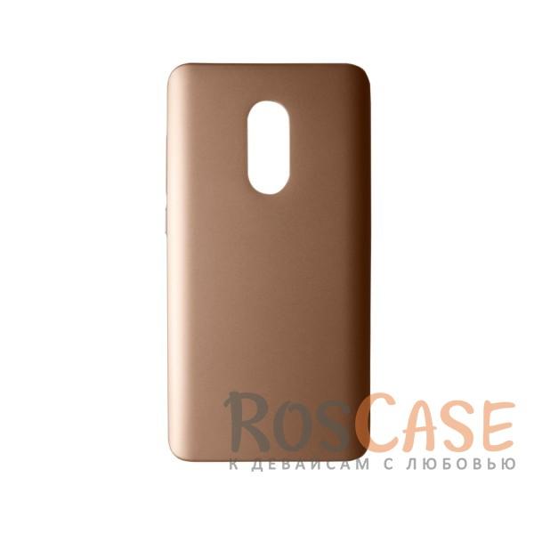 Пластиковая накладка soft-touch с защитой торцов Joyroom для Xiaomi Redmi Note 4 (Золотой)<br><br>Тип: Чехол<br>Бренд: Epik<br>Материал: Пластик