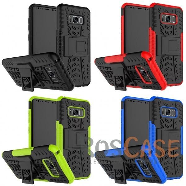 Противоударный двухслойный чехол Shield для Samsung G950 Galaxy S8 с подставкойОписание:совместим с Samsung G950 Galaxy S8;удобная функция подставки;материал - поликарбонат, термополиуретан;тип - накладка;ударопрочная конструкция;предусмотрены все необходимые вырезы;рельефная фактура.<br><br>Тип: Чехол<br>Бренд: Epik<br>Материал: TPU