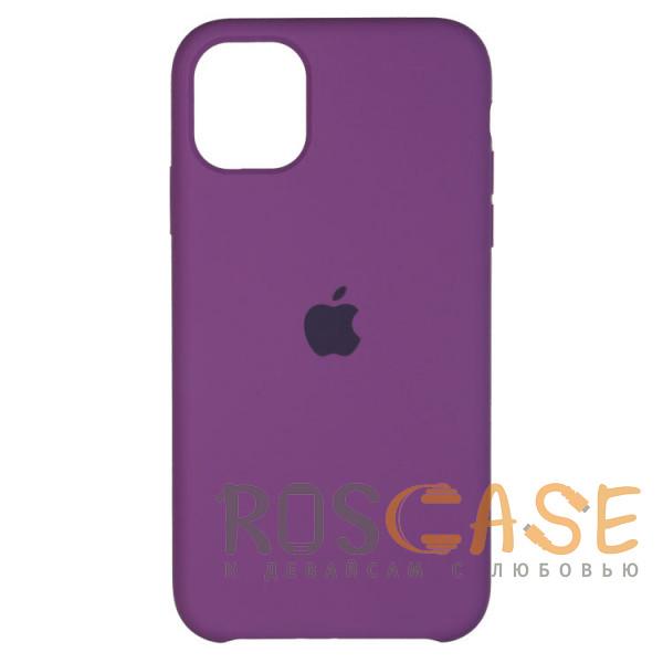 Фото Фиолетовый Силиконовый чехол Silicone Case с микрофиброй для iPhone 11 Pro