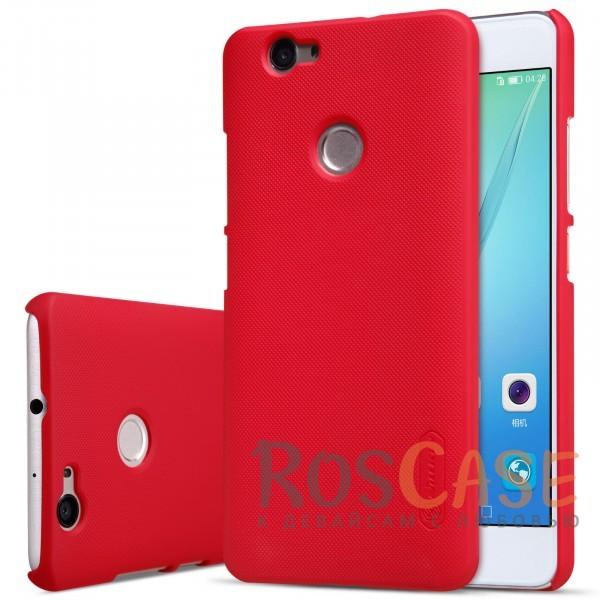 Чехол Nillkin Matte для Huawei Nova (+ пленка) (Красный)Описание:бренд&amp;nbsp;Nillkin;спроектирована для Huawei Nova;материал - поликарбонат;тип - накладка.Особенности:фактурная поверхность;защита от ударов и царапин;тонкий дизайн;наличие функциональных вырезов;пленка на экран в комплекте.<br><br>Тип: Чехол<br>Бренд: Nillkin<br>Материал: Поликарбонат