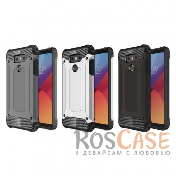 Противоударный чехол для  LG G6 / G6 Plus H870 / H870DSОписание:ударопрочный чехол;спроектирован специально для LG G6 / G6 Plus H870 / H870DS;защищает заднюю панель гаджета и боковые грани;приподнятые бортики защищают экран от царапин;конструкция из двух материалов - термополиуретана и поликарбоната;предусмотрены все необходимые вырезы;не скользит в руках;формат - накладка.<br><br>Тип: Чехол<br>Бренд: Epik<br>Материал: TPU