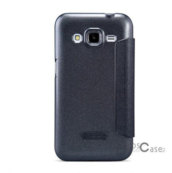 Кожаный чехол (книжка) Nillkin Sparkle Series для Samsung G360H/G361H Galaxy Core Prime Duos (Черный)Описание:разработчик и производитель&amp;nbsp;Nillkin;изготовлен из синтетической кожи и поликарбоната;фактурная поверхность;тип конструкции: чехол-книжка;совместим с Samsung G360H/G361H Galaxy Core Prime Duos.&amp;nbsp;Особенности:внутренняя отделка из микрофибры;ультратонкий;не скользит в руках;яркая, насыщенная палитра цветов.<br><br>Тип: Чехол<br>Бренд: Nillkin<br>Материал: Искусственная кожа