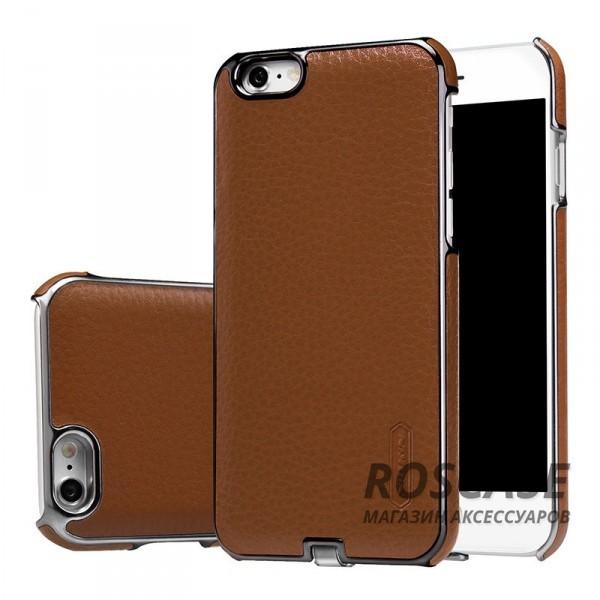 Кожаная накладка Nillkin N-Jarl с модулем приема от беспроводного ЗУ для Apple iPhone 6/6s (4.7) (Коричневый)Описание:компания&amp;nbsp;Nillkin;создано для Apple iPhone 6/6s (4.7);материал: искусственная кожа, поликарбонат;тип: накладка.&amp;nbsp;Особенности:модуль приема заряда от беспроводного ЗУ;выходное напряжение - 5V-1A (max);на накладке не заметны отпечатки пальцев;ультратонкая;защита от царапин и потертостей.<br><br>Тип: Чехол<br>Бренд: Nillkin<br>Материал: Искусственная кожа