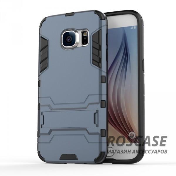 Ударопрочный чехол-подставка Transformer для Samsung G930F Galaxy S7 с мощной защитой корпуса (Серый / Metal slate)Описание:подходит для Samsung G930F Galaxy S7;материалы: термополиуретан, поликарбонат;формат: накладка.&amp;nbsp;Особенности:функциональные вырезы;функция подставки;двойная степень защиты;защита от механических повреждений;не скользит в руках.<br><br>Тип: Чехол<br>Бренд: Epik<br>Материал: TPU