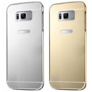 Металлический бампер для Samsung G950 Galaxy S8 с зеркальной вставкой