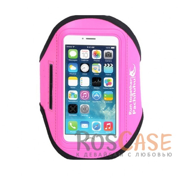 Спортивный чехол на руку Sports Armband для телефона 4.8-5.8 дюйма (Розовый)Описание:бренд&amp;nbsp;Epikсовместимость - смартфоны с диагональю экрана до 5,8 дюйма;размеры -&amp;nbsp;16х8,5 см;материал - неопрен;тип  -  чехол на руку.&amp;nbsp;Особенности:водоотталкивающий материал;прошит по периметру;компактный;защита от царапин;кармашки для мелочей;крепится на руку.<br><br>Тип: Чехол<br>Бренд: Epik<br>Материал: Неопрен
