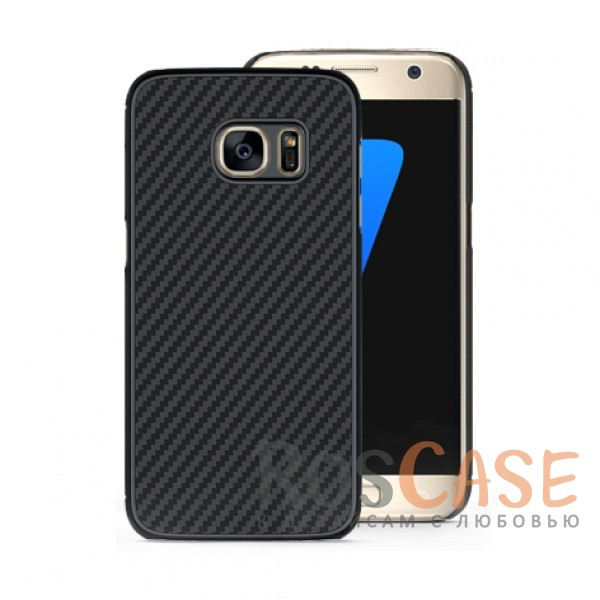 Пластиковая накладка Nillkin Synthetic Fiber series для Samsung G930F Galaxy S7 (Черный)<br><br>Тип: Чехол<br>Бренд: Nillkin<br>Материал: TPU