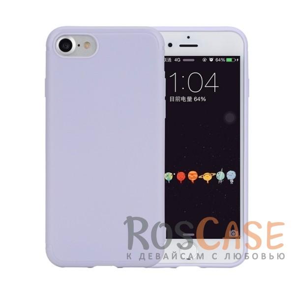 Гибкий матовый силиконовый чехол с олеофобным покрытием для Apple iPhone 7 / 8 (4.7) (Сиреневый / Light purple)Описание:произведен фирмой Rock;совместим с Apple iPhone 7 / 8 (4.7);материал  -  термополиуретан;тип  -  накладка.&amp;nbsp;Особенности:имеются все функциональные вырезы;матовая поверхность;не скользит;амортизирует удары;на ней не видны следы от пальцев;защищает от царапин.<br><br>Тип: Чехол<br>Бренд: ROCK<br>Материал: TPU