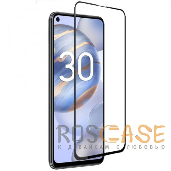 Фото Черное Защитное стекло 9D High Quality 9H для Huawei Honor 30