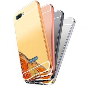 Металлический бампер для Huawei Honor 10 с зеркальной вставкой