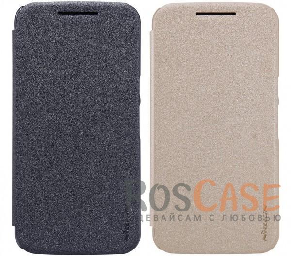Кожаный чехол (книжка) Nillkin Sparkle Series для Motorola Moto G4 / G4 PlusОписание:компания -&amp;nbsp;Nillkin;разработан для Motorola Moto G4 / G4 Plus;материал  -  синтетическая кожа, поликарбонат;форма  -  чехол-книжка.&amp;nbsp;Особенности:защищает со всех сторон;имеет все необходимые вырезы;легко чистится;не увеличивает габариты;защищает от ударов и царапин;блестящая поверхность.<br><br>Тип: Чехол<br>Бренд: Nillkin<br>Материал: Искусственная кожа
