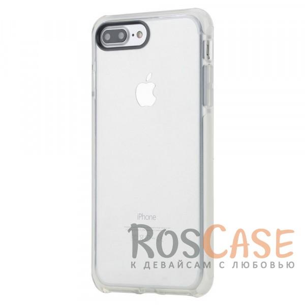 TPU+PC чехол Rock Guard Series для Apple iPhone 7 plus (5.5) (Белый / Transparent White)Описание:бренд&amp;nbsp;Rock;совместимость: Apple iPhone 7 plus (5.5);материал: термопластичный полиуретан и термоэластопласт;вид: накладка.&amp;nbsp;Особенности:ударопрочный;все функциональные вырезы предусмотрены;защита камеры от царапин;защита экрана благодаря наличию выступающих краев по его периметру;<br><br>Тип: Чехол<br>Бренд: ROCK<br>Материал: TPU