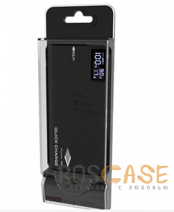 Фото Черный Mezone Q9 | Портативное зарядное устройство Power Bank с дисплеем (10000mAh QuickCharge QC3.0) (+кабель MicroUSB)