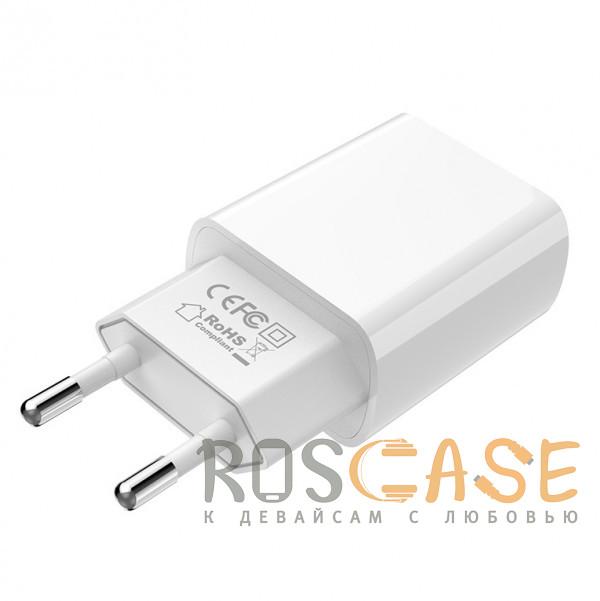 Изображение Белый Borofone BA20A | Блок зарядки для телефона 1USB / 2.1A