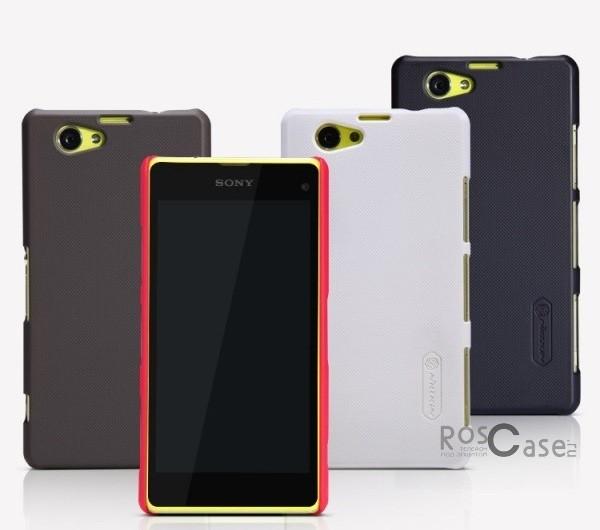 Матовый чехол для Sony Xperia Z1 Compact (+ пленка)Описание:производитель - Nillkin;совместим с Sony Xperia Z1 Compact;используемый материал: пластик;форма: накладка.Особенности:полный набор функциональных вырезов;современный дизайн;прочные материалы изготовления;надежные элементы фиксации;в комплекте тонкая защитная пленка.&amp;nbsp;<br><br>Тип: Чехол<br>Бренд: Nillkin<br>Материал: Поликарбонат