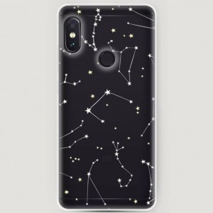 RosCase | Силиконовый чехол Созвездия на Xiaomi Redmi Note 5 Pro