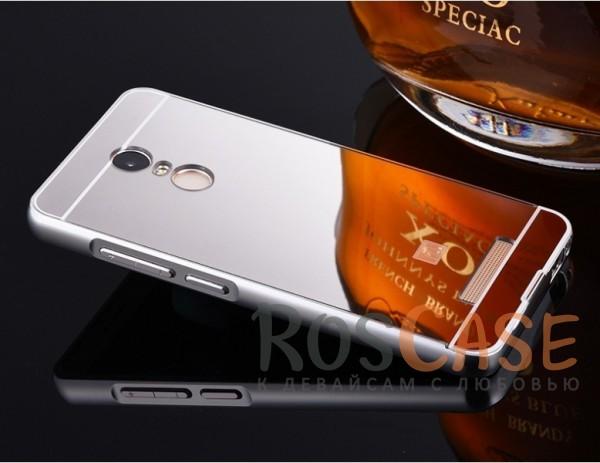 Металлический бампер с акриловой вставкой с зеркальным покрытием для Xiaomi Redmi Note 3 / Pro (Серебряный)Описание:разработан для Xiaomi Redmi Note 3 / Pro;материалы - металл, акрил;тип - бампер с задней панелью.<br><br>Тип: Чехол<br>Бренд: Epik<br>Материал: Металл