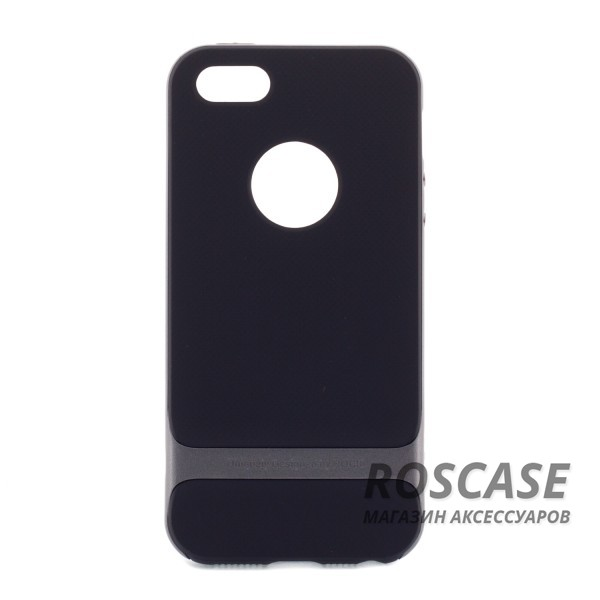 Изображение Черный / Серый TPU+PC чехол Rock Royce Cross Series для Apple iPhone 5/5S/SE