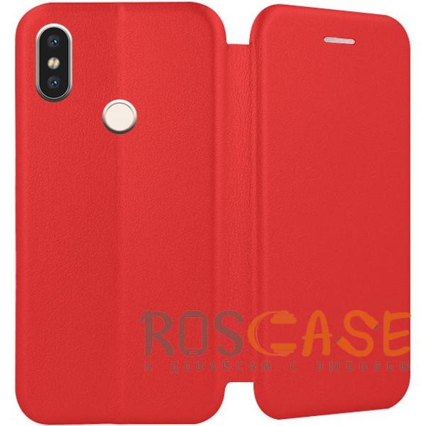 Фотография Красный Open Color | Чехол-книжка для Xiaomi Mi 8 SE с функцией подставки и магнитом