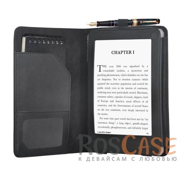 Фото Черный Чехол книжка для электронной книги с экраном 8 дюймов