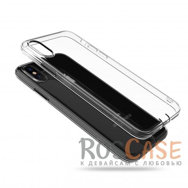 Прозрачный ультратонкий силиконовый чехол-накладка с дополнительной защитой камеры и клавиш для Apple iPhone X (Бесцветный (прозрачный))<br><br>Тип: Чехол<br>Бренд: Epik<br>Материал: TPU