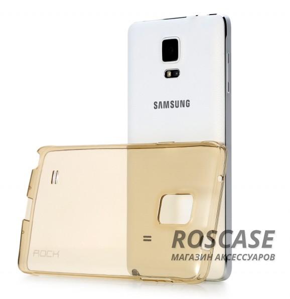 TPU чехол ROCK Slim Jacket для Samsung N910H Galaxy Note 4Описание:разработчик  - &amp;nbsp;Rock;разработан специально для Samsung N910H Galaxy Note 4;материал  -  термополиуретан;тип  -  накладка.&amp;nbsp;Особенности:соответствие всех вырезов функциям;прозрачный;не трескается;надежная система фиксации;на нем не видны следы от пальцевустойчив к пожелтению.<br><br>Тип: Чехол<br>Бренд: ROCK<br>Материал: TPU