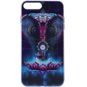 """Тонкий силиконовый чехол """"Космические животные"""" с прозрачными краями для iPhone 7 Plus"""