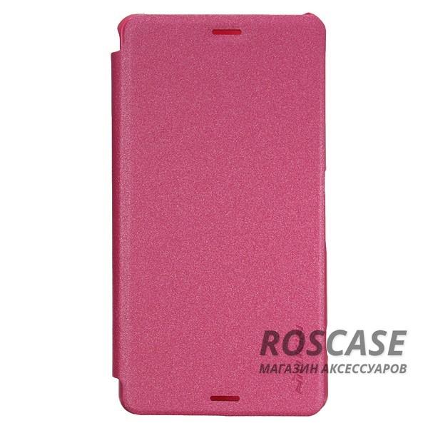 Кожаный чехол (книжка) Nillkin Sparkle Series для Sony Xperia Z3 Compact (Розовый)Описание:разработчик и производитель&amp;nbsp;Nillkin;изготовлен из синтетической кожи и поликарбоната;фактурная поверхность;тип конструкции: чехол-книжка;совместим с Sony Xperia Z3 Compact.&amp;nbsp;Особенности:внутренняя отделка из микрофибры;ультратонкий;не скользит в руках;яркая, насыщенная палитра цветов.<br><br>Тип: Чехол<br>Бренд: Nillkin<br>Материал: Искусственная кожа