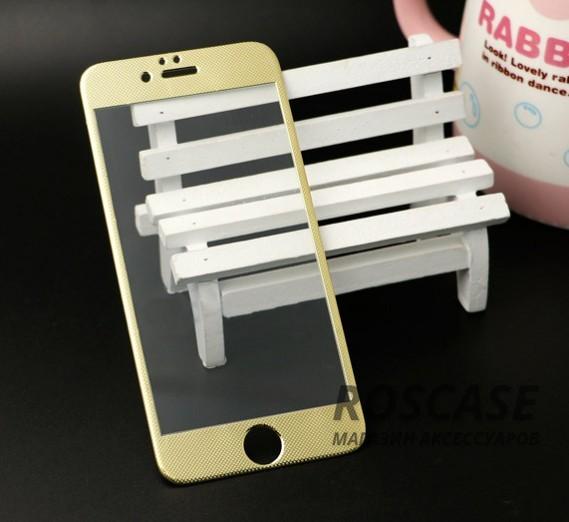 Закаленное защитное стекло 3D Molwey для Apple iPhone 6/6s (4.7) на весь экран (Золотой)Описание:бренд  -  Molwey;совместимо с Apple iPhone 6/6s (4.7);материал: закаленное стекло;тип: стекло на экран.&amp;nbsp;Особенности:фактурная поверхность цветной рамки;ультратонкое  -  0,3 мм;закрывает весь экран;прочное;олеофобное покрытие;цветная окантовка;защищает от царапин и ударов.<br><br>Тип: Защитное стекло<br>Бренд: Epik