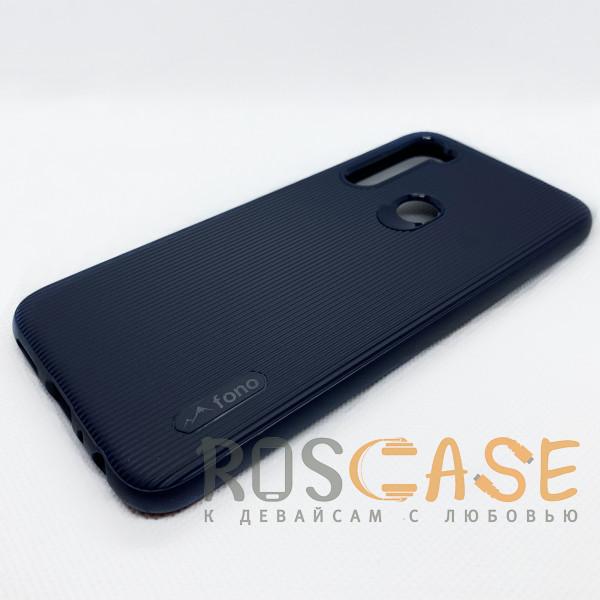 Фотография Синий Силиконовая накладка Fono для Xiaomi Redmi Note 8
