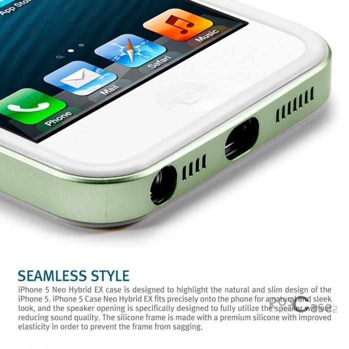 Бампер SGP Neo Hybrid EX Slim Snow Series для Apple iPhone 5 (+ пленка)