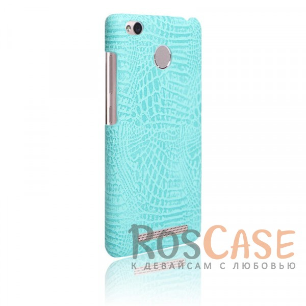 Кожаный чехол с узором из крокодиловой кожи Croc Series для Xiaomi Redmi 3 Pro / Redmi 3s (Бирюзовый)<br><br>Тип: Чехол<br>Бренд: Epik<br>Материал: Искусственная кожа