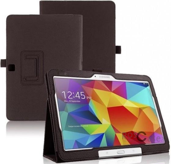 Кожаный чехол-книжка TTX c функцией подставки для Samsung Galaxy Tab 4 10.1/Galaxy Tab S 10.5 (Коричневый)Описание:разработка и изготовление TTX;изготовлен из синтетической кожи;фактурная поверхность;внутри отделан микрофиброй;тип конструкции: чехол-книжка;совместим с Samsung Galaxy Tab 4 10.1/Galaxy Tab S 10.5.&amp;nbsp;Особенности:износостойкий;добротный классический дизайн;может выполнять функцию подставки;широкая палитра цветов;легко очищается.<br><br>Тип: Чехол<br>Бренд: TTX<br>Материал: Искусственная кожа