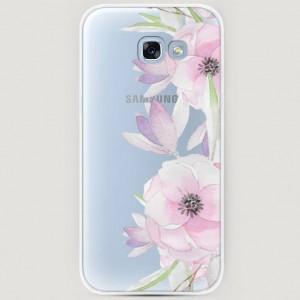 RosCase | Силиконовый чехол Нежные анемоны на Samsung A520 Galaxy A5 (2017) для Samsung Galaxy A5 2017 (A520F)