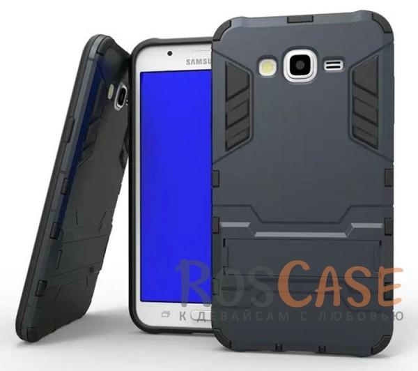 Ударопрочный чехол-подставка Transformer для Samsung J700H Galaxy J7 с мощной защитой корпуса (Серый / Metal slate)Описание:подходит для Samsung J700H Galaxy J7;материалы: термополиуретан, поликарбонат;формат: накладка.&amp;nbsp;Особенности:функциональные вырезы;функция подставки;двойная степень защиты;защита от механических повреждений;не скользит в руках.<br><br>Тип: Чехол<br>Бренд: Epik<br>Материал: TPU