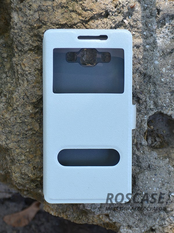 Чехол (книжка) Smart Case Series для Samsung A500H / A500F Galaxy A5 (Белый)Описание:производитель -&amp;nbsp;Epik;совместим с Samsung A500H / A500F Galaxy A5;материал - поликарбонат + кожзам;форма - книжка.Особенности:ультратонкий дизайн;устойчивость к деформации;гладкая поверхность;окошко в обложке;магнитная застежка;наличие необходимых вырезов.<br><br>Тип: Чехол<br>Бренд: Epik<br>Материал: Искусственная кожа
