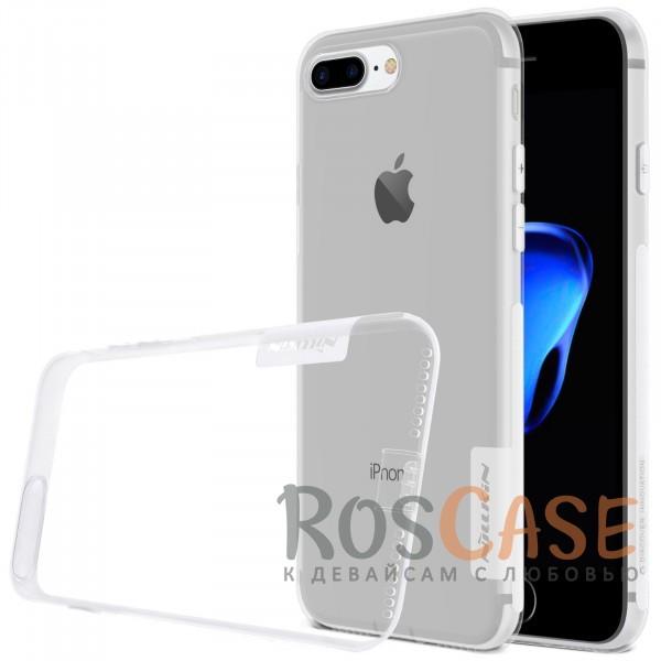 TPU чехол Nillkin Nature Series для Apple iPhone 7 plus (5.5) (Бесцветный (прозрачный))Описание:бренд&amp;nbsp;Nillkin;совместимость - Apple iPhone 7 plus (5.5);материал  -  термополиуретан;тип  -  накладка.&amp;nbsp;Особенности:в наличии все вырезы;не скользит в руках;тонкий дизайн;защита от ударов и царапин;прозрачный;заглушка на отверстие для зарядки.<br><br>Тип: Чехол<br>Бренд: Nillkin<br>Материал: TPU