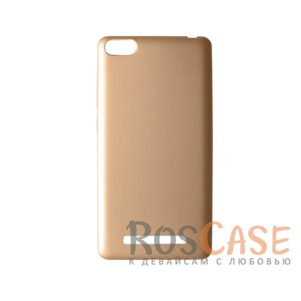 Пластиковая накладка soft-touch с защитой торцов Joyroom для Xiaomi Mi 4i / Mi 4c (Золотой)<br><br>Тип: Чехол<br>Бренд: Epik<br>Материал: Пластик