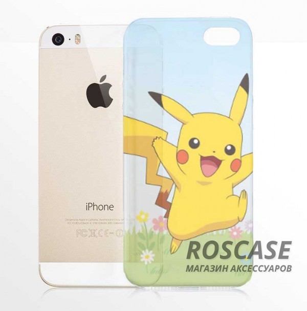 Силиконовый чехол Funny Pokemons для Apple iPhone 5/5S/SE (Pikachu)Описание:бренд:&amp;nbsp;Epik;совместимость: Apple iPhone 5/5S/SE;материал: силикон;тип: накладка.&amp;nbsp;Особенности:принт с покемонами;не скользит в руках;эластичный и гибкий;плотно прилегает;в наличии все функциональные вырезы.<br><br>Тип: Чехол<br>Бренд: Epik<br>Материал: TPU