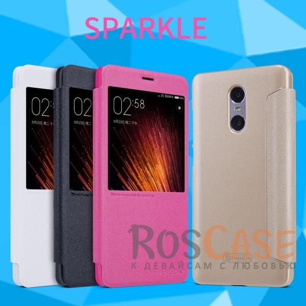 Кожаный чехол (книжка) Nillkin Sparkle Series для Xiaomi Redmi ProОписание:производитель -&amp;nbsp;Nillkin;разработан для Xiaomi Redmi Pro;материалы - искусственная кожа, поликарбонат;тип - чехол-книжка.Особенности:блестящая поверхность;защита от царапин и ударов;тонкий дизайн;функция Sleep mode;окошко в обложке;защита со всех сторон;не скользит в руках.<br><br>Тип: Чехол<br>Бренд: Nillkin<br>Материал: Искусственная кожа