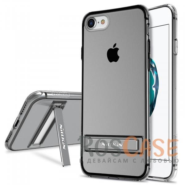 Прозрачный силиконовый чехол с подставкой и усиленной защитой углов для Apple iPhone 7 / 8 (4.7) (Серый (прозрачный))Описание:компания  - &amp;nbsp;Nillkin;совместим с Apple iPhone 7 / 8 (4.7);материал  -  термополиуретан;формат  -  накладка.&amp;nbsp;Особенности:выступы над экраном и камерой;ударопрочный;функция подставки;защита от ударов, пыли и царапин;прозрачный.<br><br>Тип: Чехол<br>Бренд: Nillkin<br>Материал: TPU