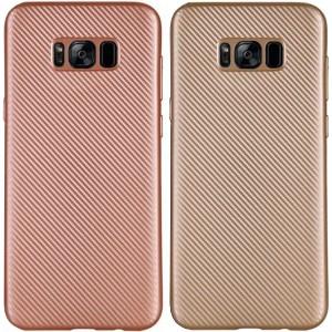 Матовый чехол для Samsung G955 Galaxy S8 Plus с текстурированной поверхностью под карбон