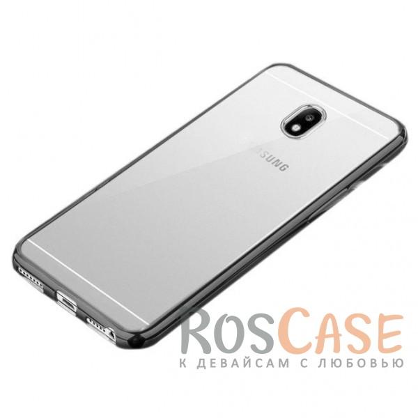 Прозрачный силиконовый чехол для Samsung J330 Galaxy J3 (2017) с глянцевой окантовкой (Серый)Описание:совместимость -&amp;nbsp;Samsung J330 Galaxy J3 (2017);глянцевая окантовка;материал - TPU;тип - накладка;защита от царапин, трещин, сколов;защита камеры;не заметны отпечатки пальцев;ульратонкий дизайн;все необходимые функциональные вырезы.<br><br>Тип: Чехол<br>Бренд: Epik<br>Материал: TPU