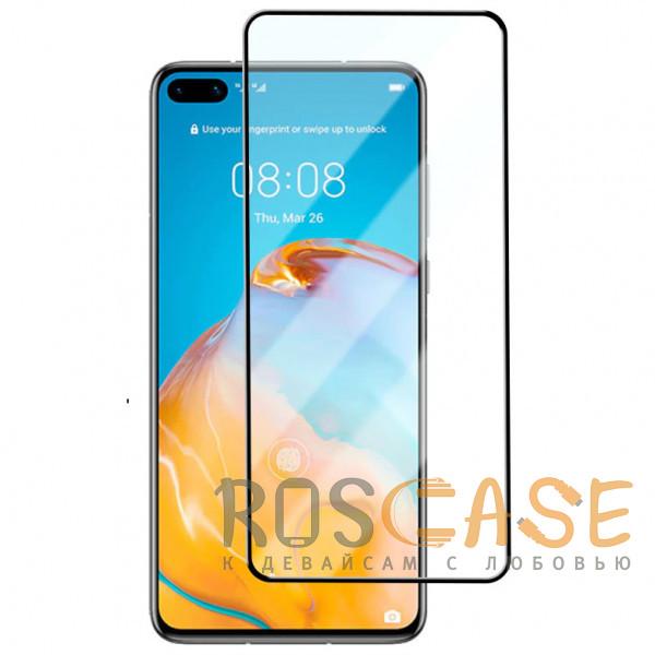 Фото Черное Защитное стекло 9D High Quality 9H для Huawei P40