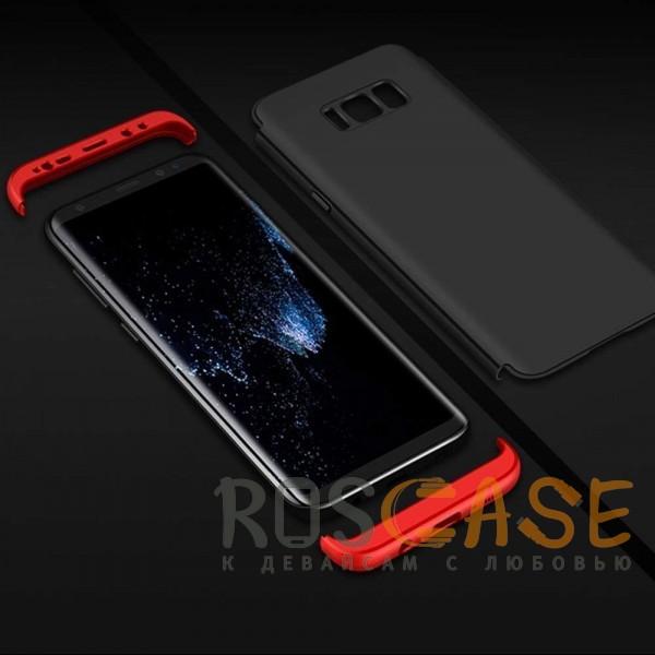 Изображение Черный / Красный GKK LikGus 360°   Двухсторонний чехол для Samsung G950 Galaxy S8 с защитными вставками