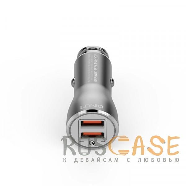 LDNIO C407Q | Автомобильное зарядное устройство с кабелем Lightning в комплекте (Серый) Epik