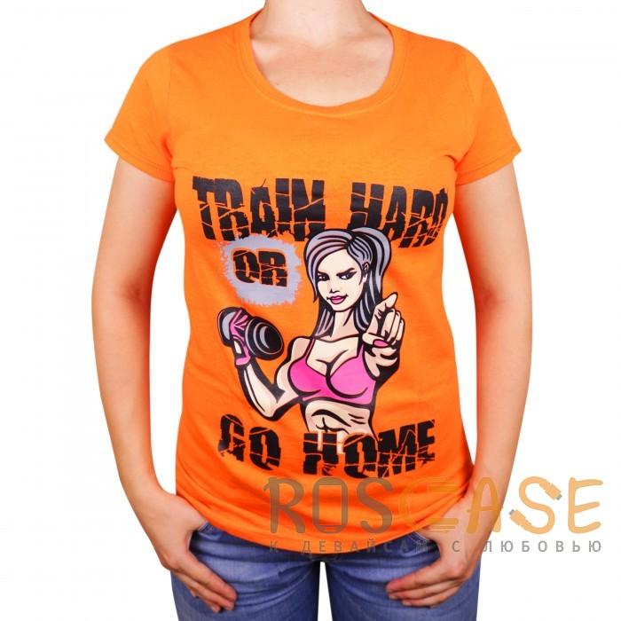 "Фото Muscle Rabbit | Женская футболка с принтом ""Train hard"""